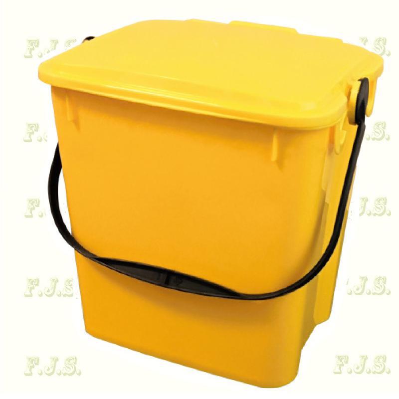 10 l. sárga fedeles Urba szelektív hulladéktároló műanyag