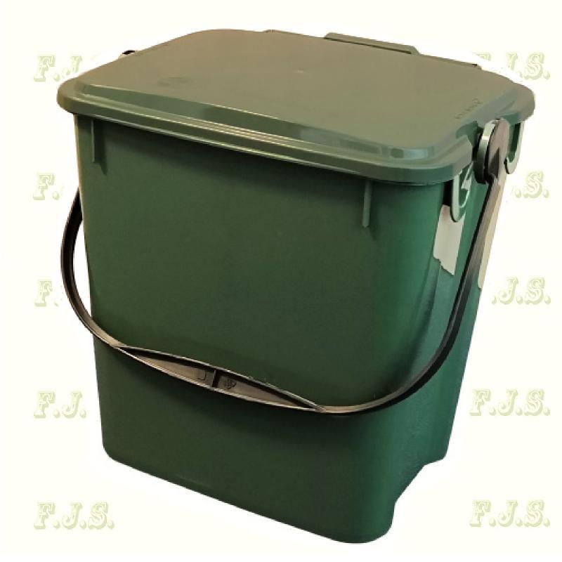 10 l. zöld fedeles Urba szelektív hulladéktároló műanyag