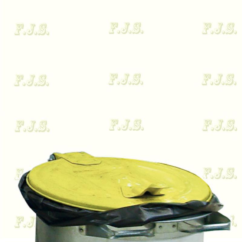 110 l. kuka hulladéktároló - sárga fedéllel horganyzott
