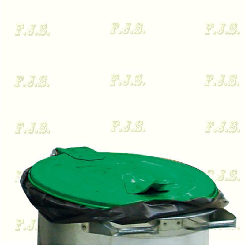 110 l. kuka hulladéktároló  - Zöld fedéllel horganyzott