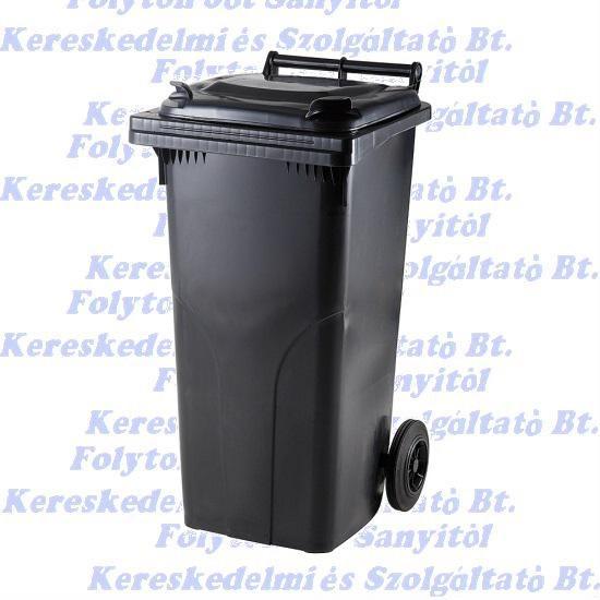 120 l. KUKA fekete hulladéktároló műanyag 120l. kültéri
