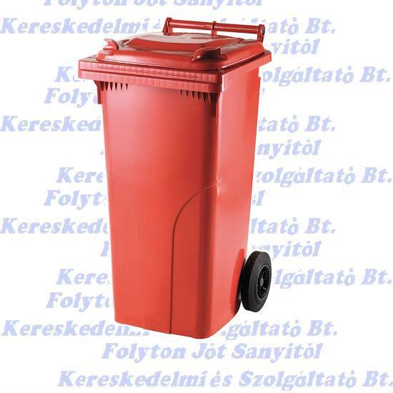 120 l.KUKA piros hulladéktároló műanyag 120l. kültéri