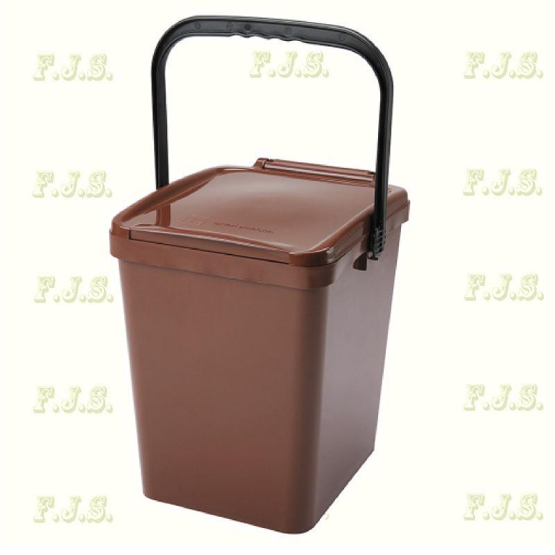 21 l. barna fedeles Urba szelektív hulladéktároló műanyag