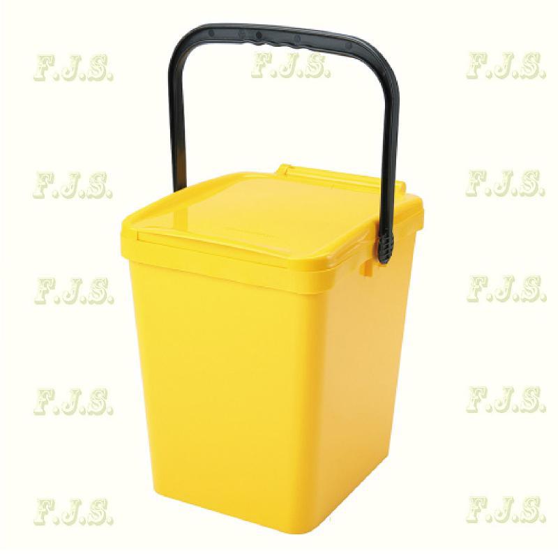 21 l. sárga fedeles Urba szelektív hulladéktároló műanyag