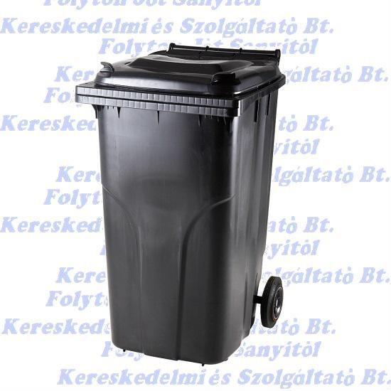 240 l.KUKA fekete hulladéktároló műanyag 240l. kültéri