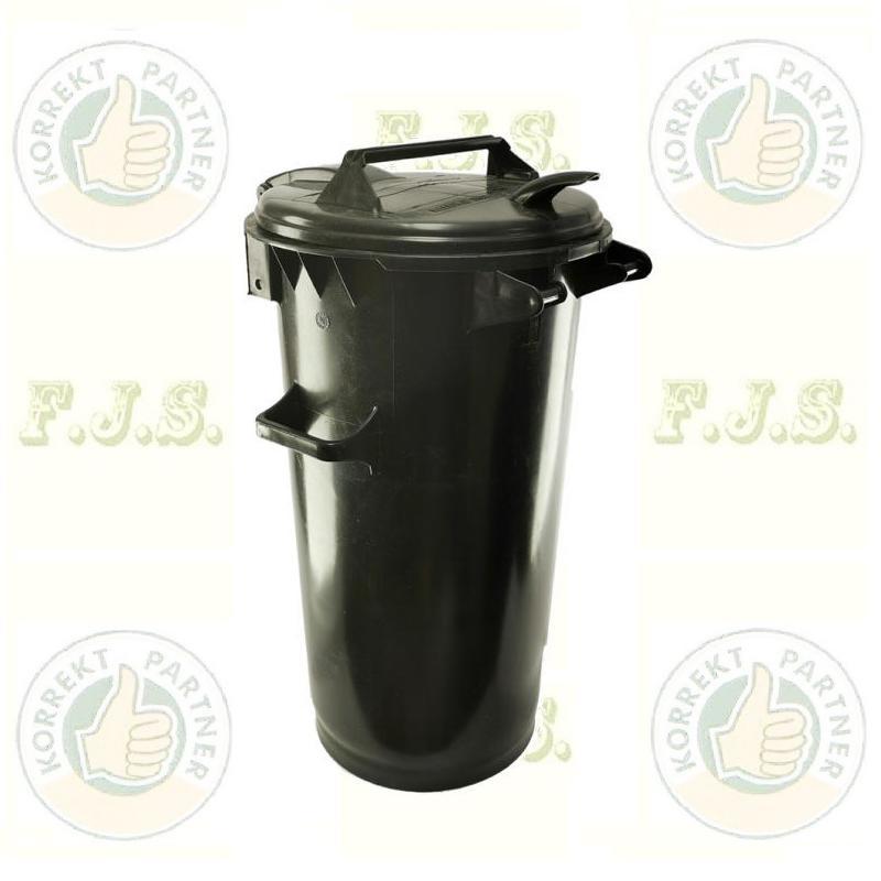 50 l. Kuka fekete hulladéktároló műanyag ECO 50l kültéri