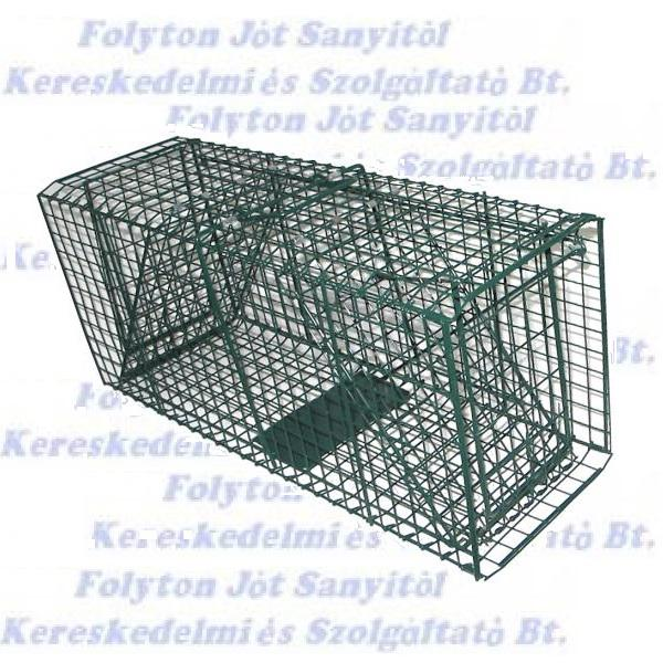 Állatcsapda XM méret (25x25x100 festett fém (menyét,nyest,mókus,görény,nyúl,fácán,galamb)