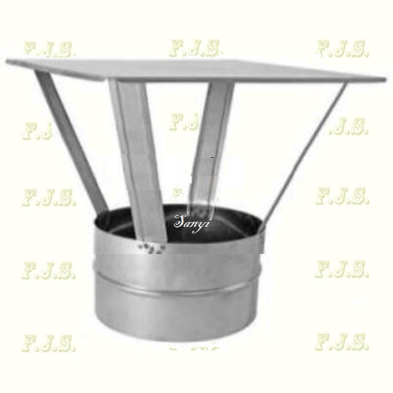 alumínium esővédő sapka(meidinger) Ø100 mm natúr gázkészülékekhez (kémény, béléscső, füstcső)
