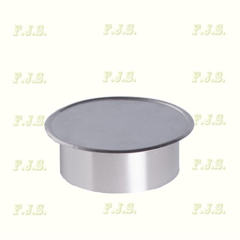 alumínium Füstcső faldugó Ø120 mm natúr