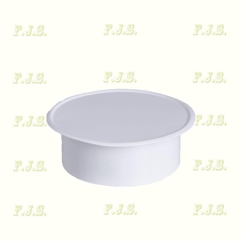 alumínium Füstcső faldugó Ø130 mm Szinterezett fehér