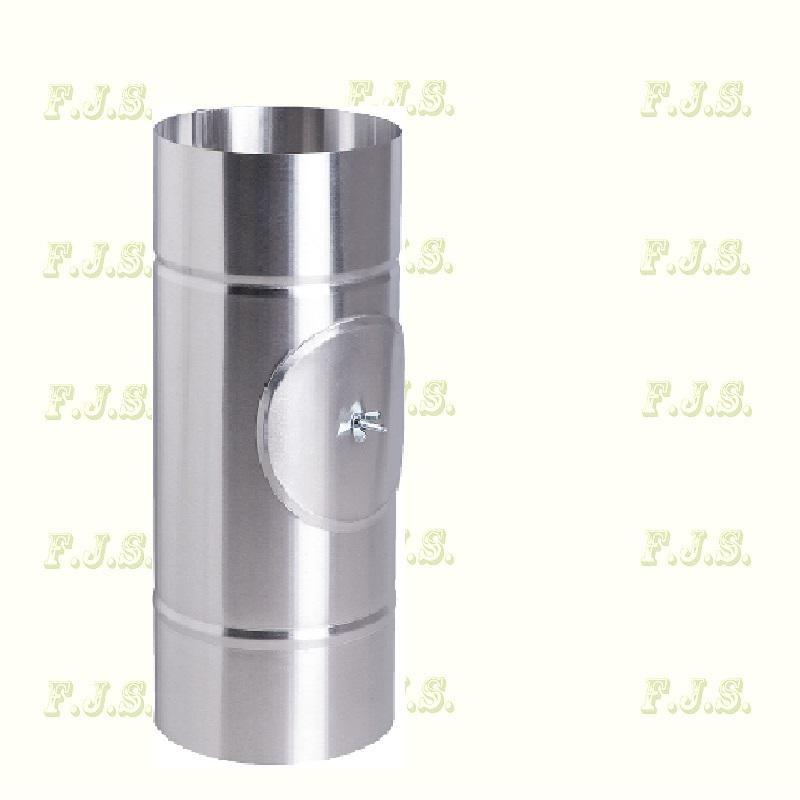alumínium füstcsö Ø110/ 33,3 natúr tisztítónyílással gázkészülékekhez