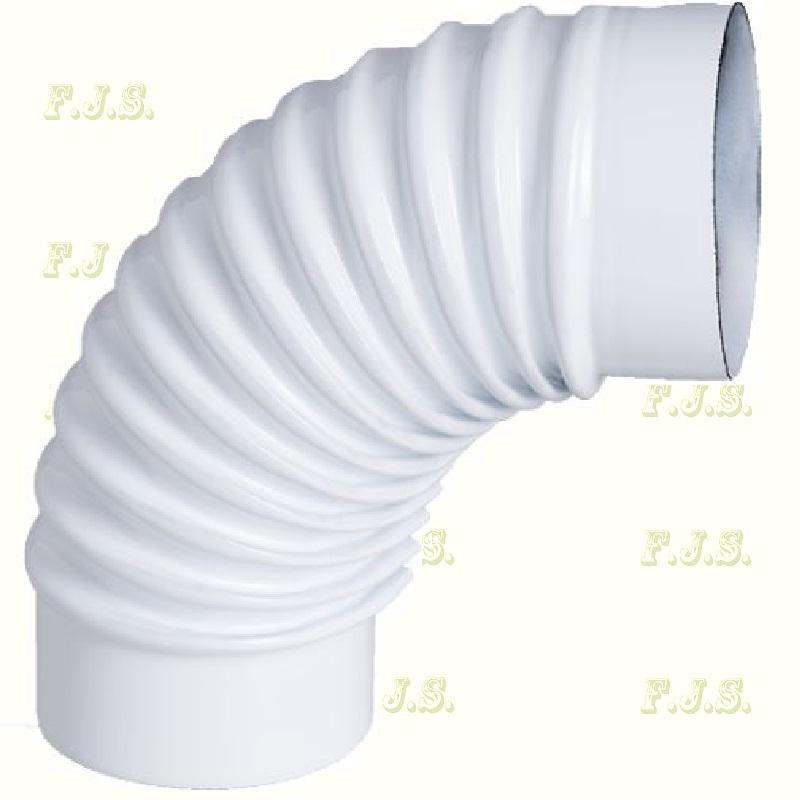 alumínium Könyök Ø 76/ 90° Szinterezett fehér