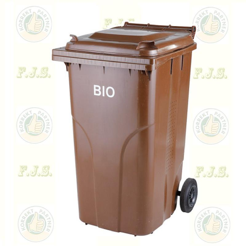 BIO 240 l. barna Kuka komposzt-hulladékgyűjtő rostéllyal. kültéri szelektív szemetes CE