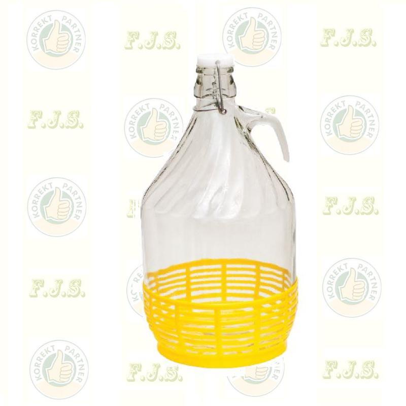 Dáma üveg, csattal 5 Literes demizson 6 db/csomag