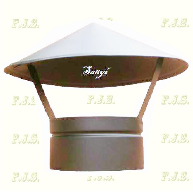 esővédő sapka Ø118(120) mm natúr (kémény, béléscső, füstcső)