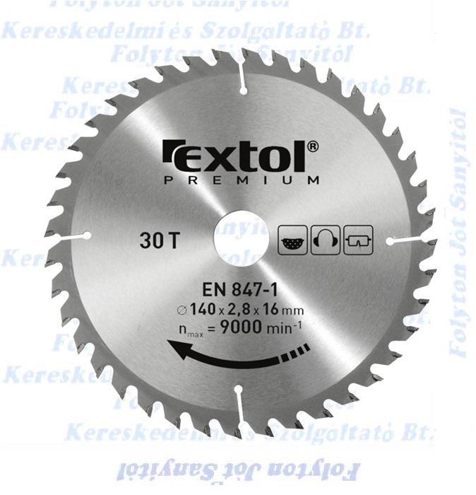 Extol Prémium Körfűrészlap Ø160X30 ,keményfémlapkás 36 fog (160×30mm, T36)