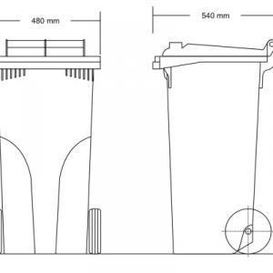 Kuka 120 l. tetrapack kültéri szemetes CE