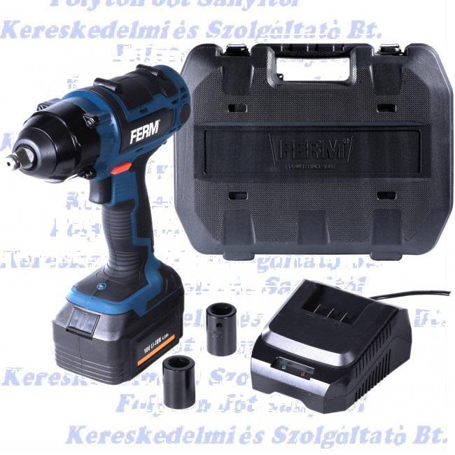 FERM CDM1127 Akkumulátoros ütvecsavarhúzó 8 V, 4 Ah,