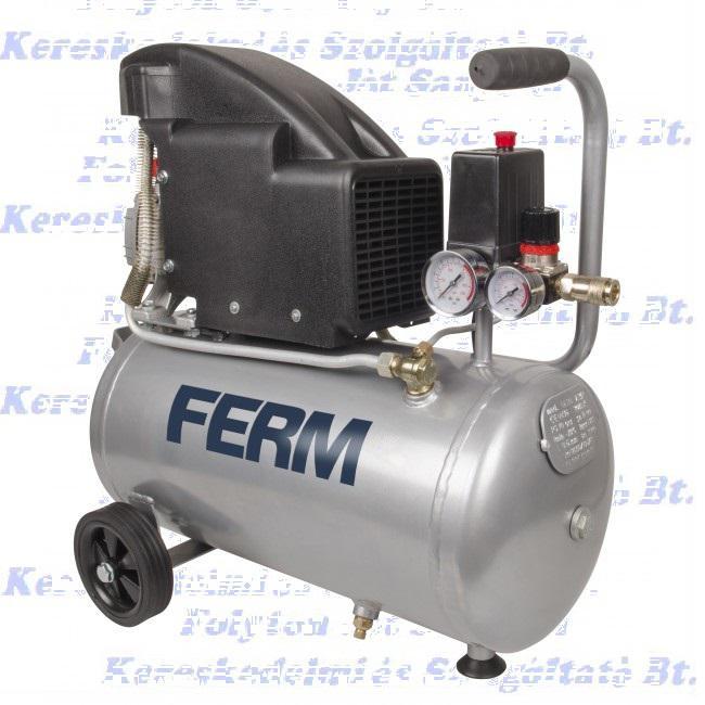 FERM CRM1045 Kompresszor 1,5 LE-1100 W, 24 L, 8 bar, olajos, indukciós motor