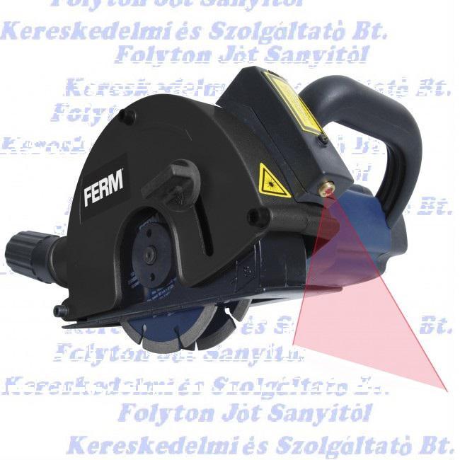 FERM WSM1009 falhoronymaró 125mm, 1700 W