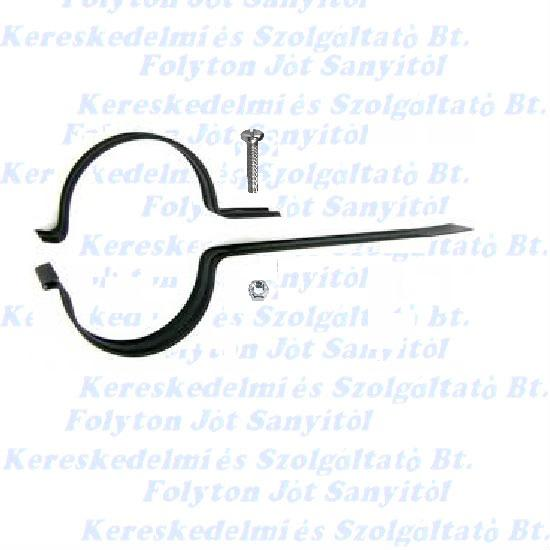 Füstcső csőbilincs Ø118(Ø120) mm Fekete