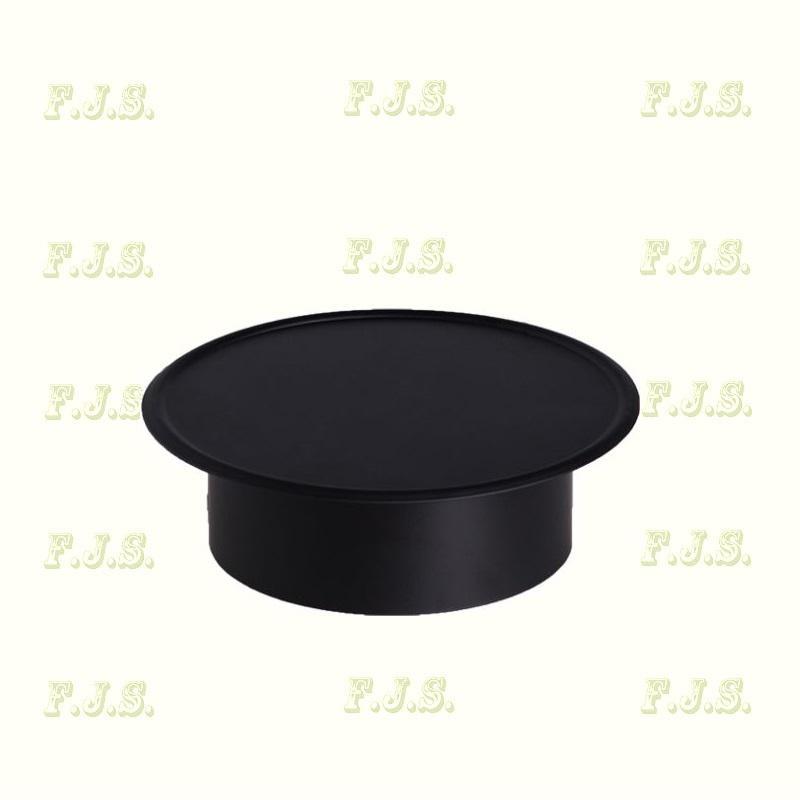Füstcső faldugó Ø118(Ø120) mm Fekete
