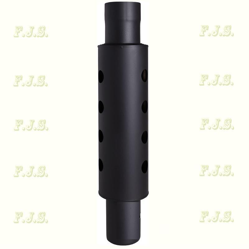 Füstcső Hődob Ø105/800 sima fekete 1 mm vastag falú hőfokozó