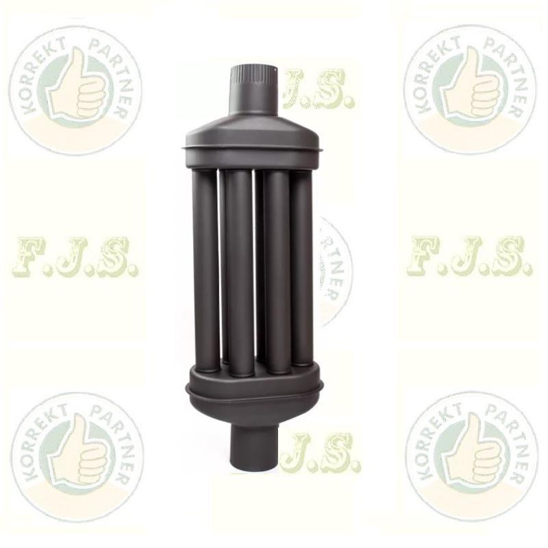Füstcső hődob Ø118(120)/1000mm 6 csöves fekete