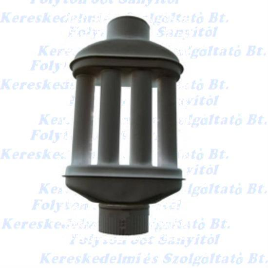Füstcső hődob Ø118(120)/550mm 6 csőves fekete