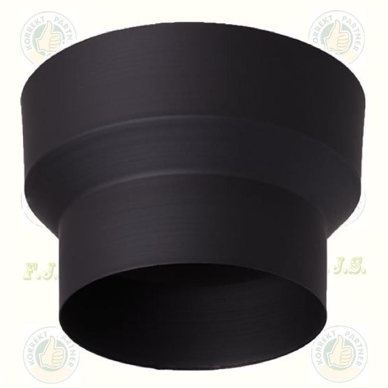 Füstcső Kályhacső bővítő Ø120-130 mm fekete