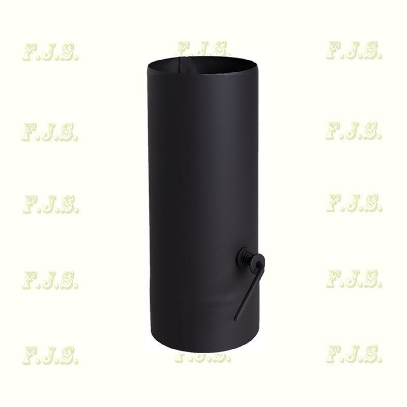 Füstcső kályhacső huzatszabályzó Ø120/40 fekete pillangószelep