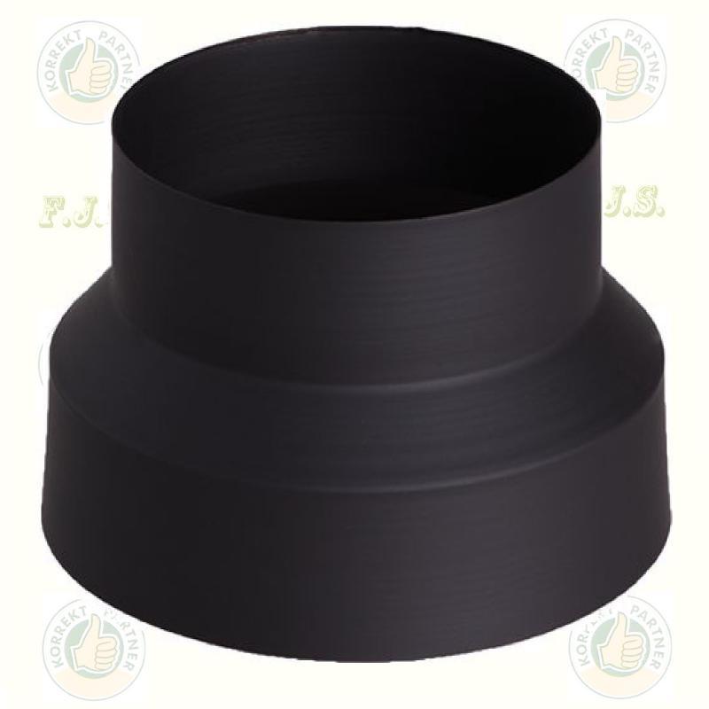 Füstcső Kályhacső szűkítő Ø130-118(120) mm fekete