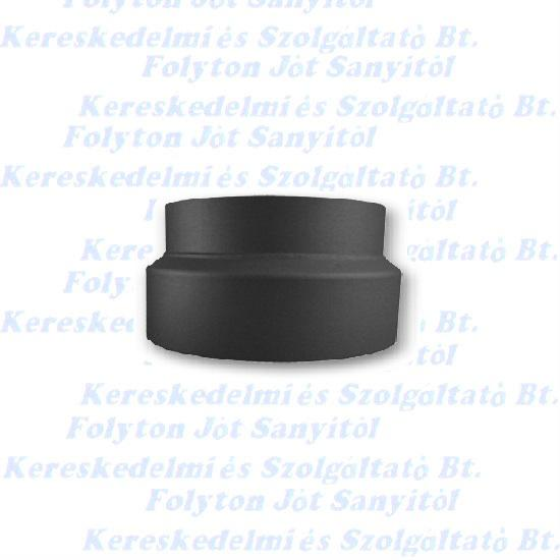 Füstcső Kályhacső szűkítő Ø150-118(120) mm fekete