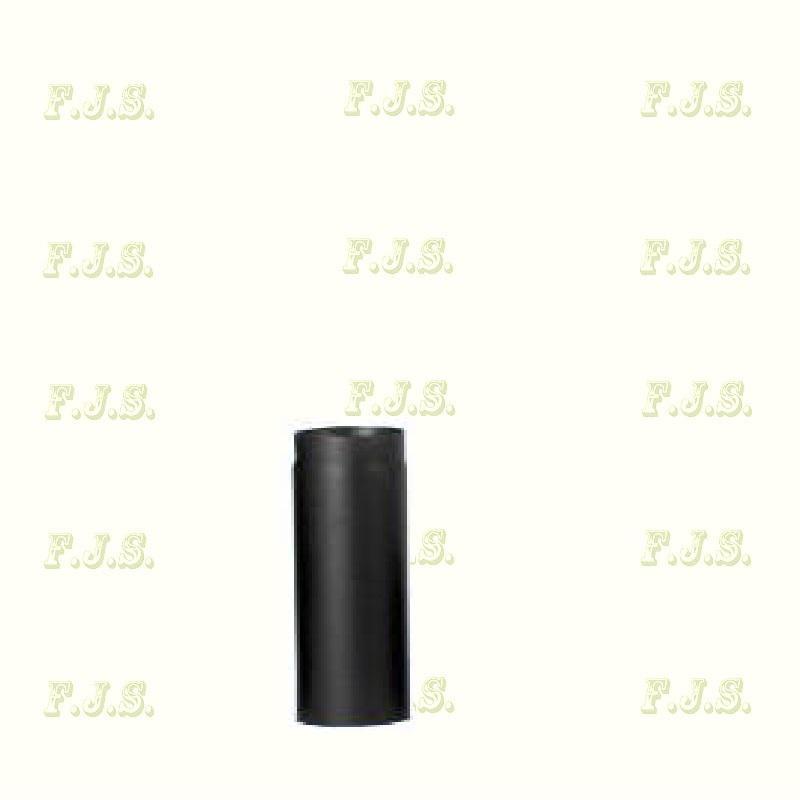 Füstcső Ø130/ 25 vastag falú 1,6-1,8mm fekete