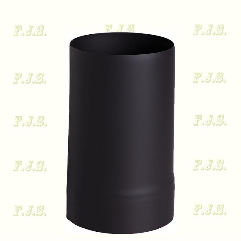 füstcső Ø130/ 30 Vastag falú 1 mm fekete