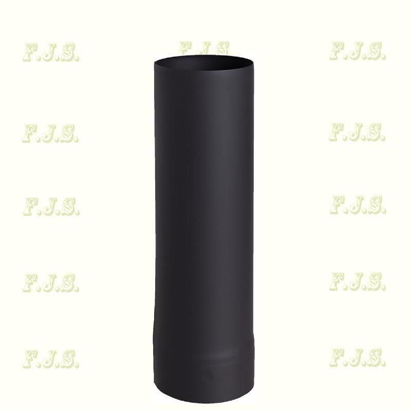 füstcsö Ø130/ 50 vastag falú 1 mm Fekete
