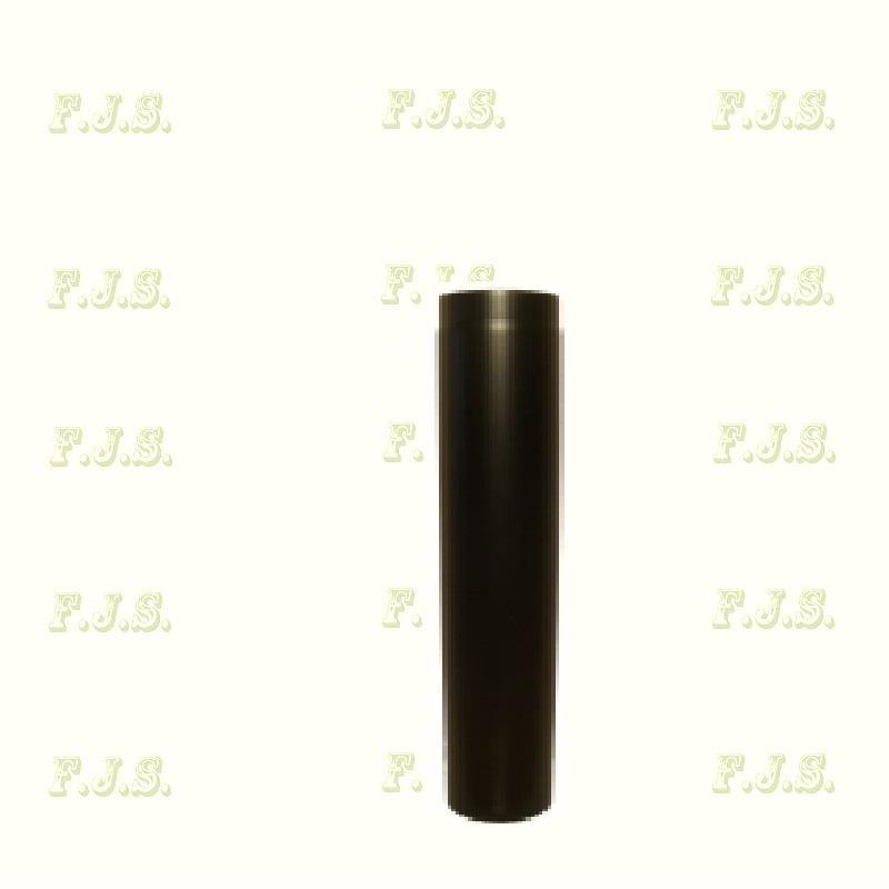 Füstcső Ø130/ 50 vastag falú 1,6-1,8mm fekete