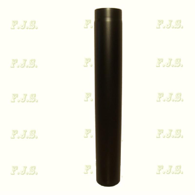 Füstcső Ø130/100 vastag falú 1,6-1,8mm fekete