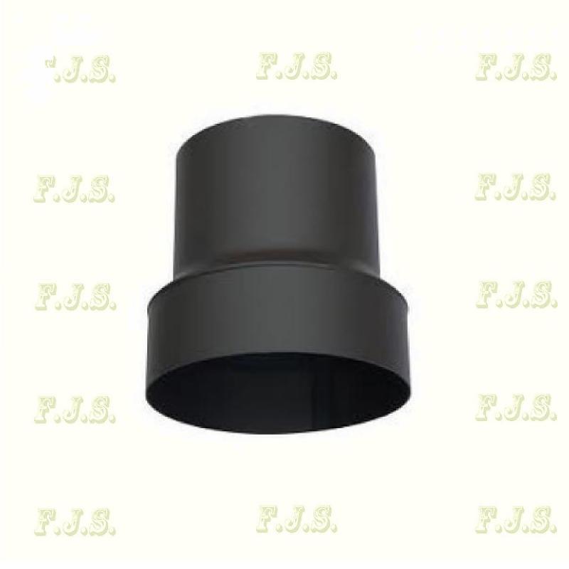 Füstcső szűkítő Ø150-130 mm fekete vastag falú 1,6-1,8 mm