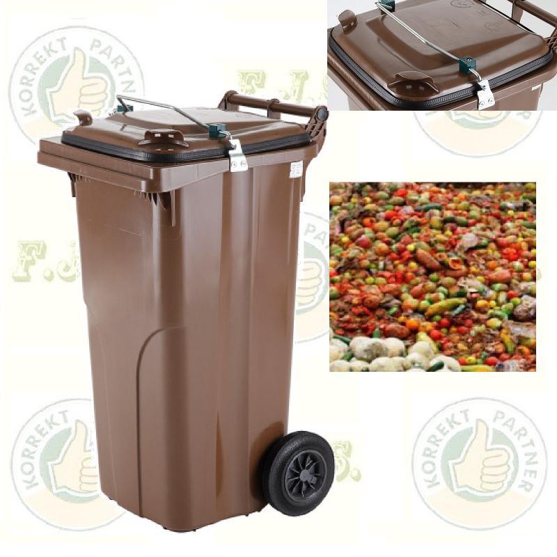 Gasztro 120 l. barna Kuka szemetes hulladéktároló