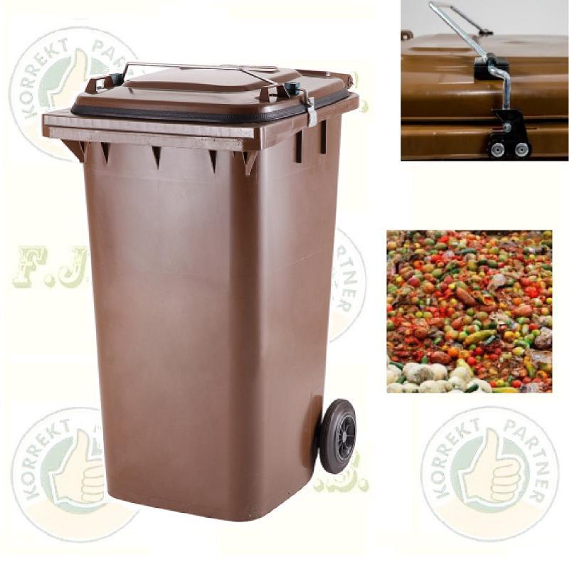 Gasztro 240 l. barna Kuka szemetes hulladéktároló