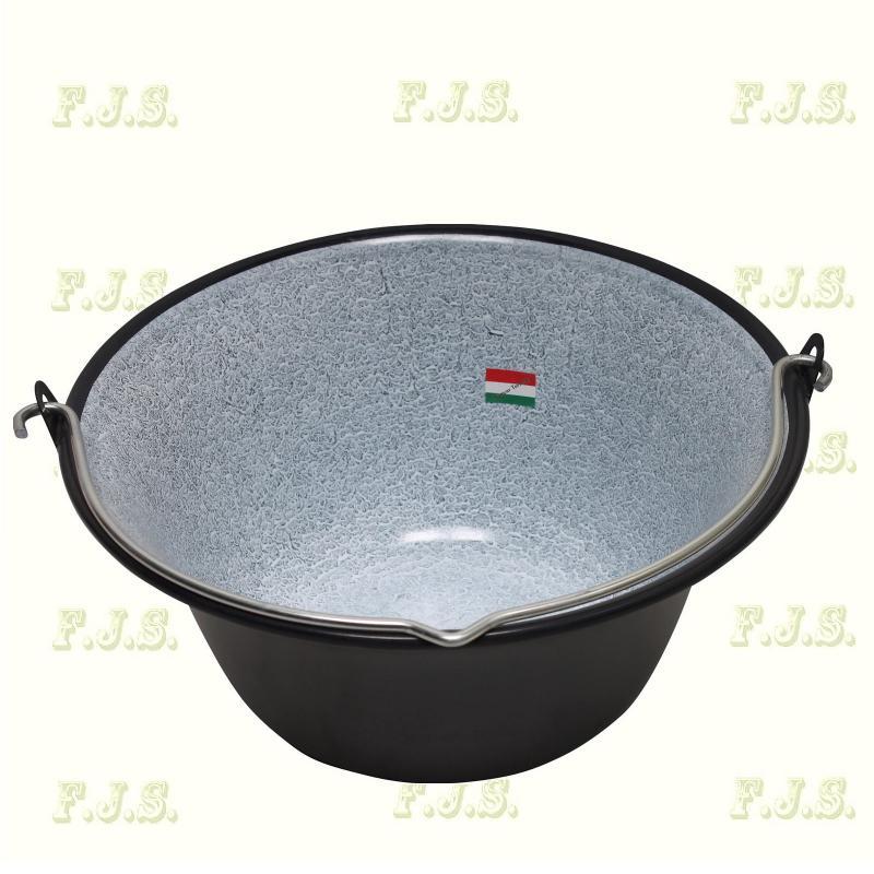 gulyásbogrács 14 literes  gránitzománcos