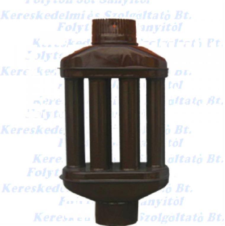 hődob Ø118/550mm 6 csöves zománcozott barna hőfokozó