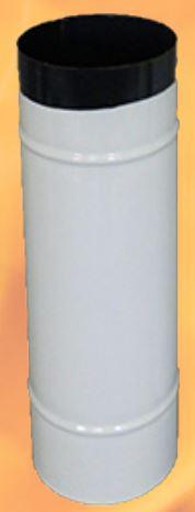 kályhacső füstcső Ø118 / 40 zománcos Fehér (Ø120)