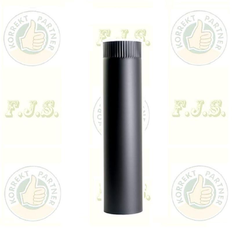 kályhacső Füstcső Ø118 / 50 fekete