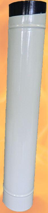 kályhacső füstcső Ø118/ 80 zománcos Fehér (Ø120)