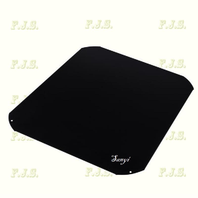 kandalló és Kályha alátét lemez fekete  50 x 60 cm