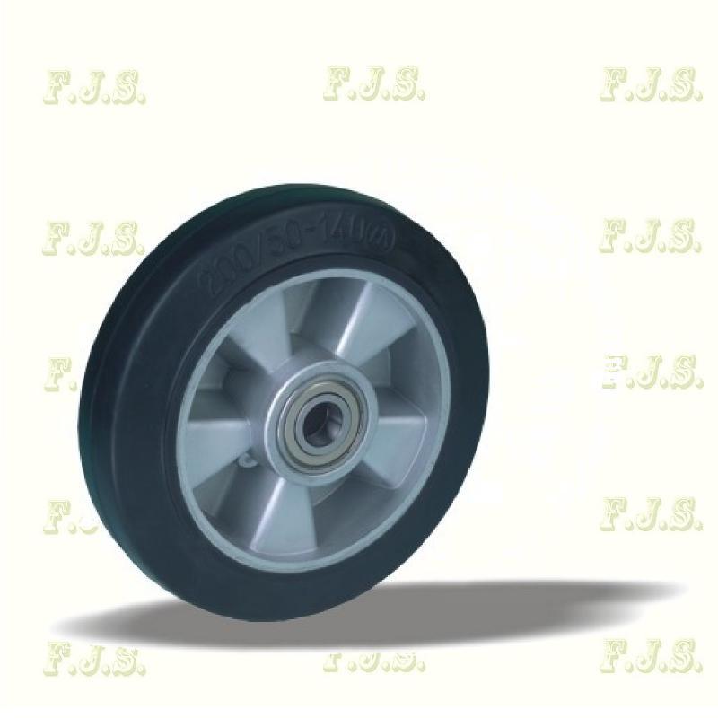 Kerék alap alumínium elasztikus Ø160, 42514, nagy teherbírású