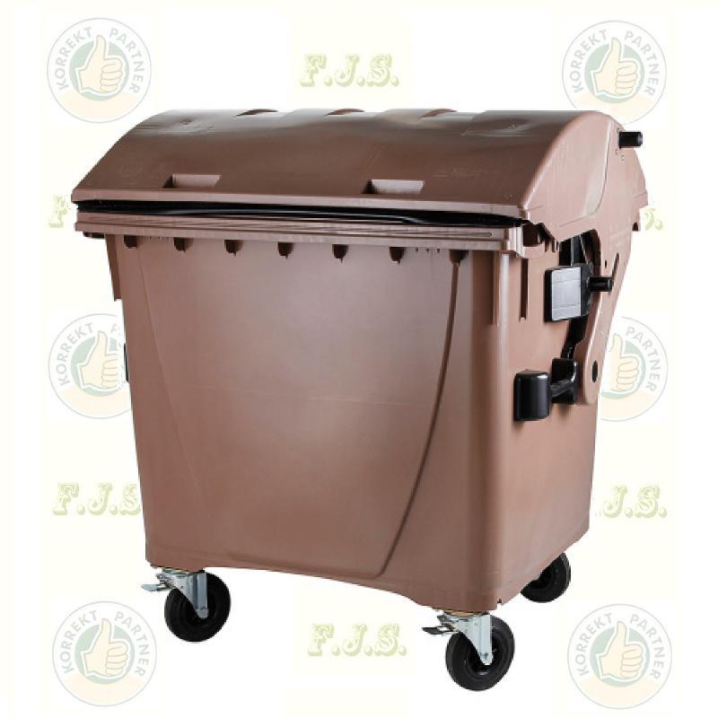 konténer 1100 literes barna műanyag