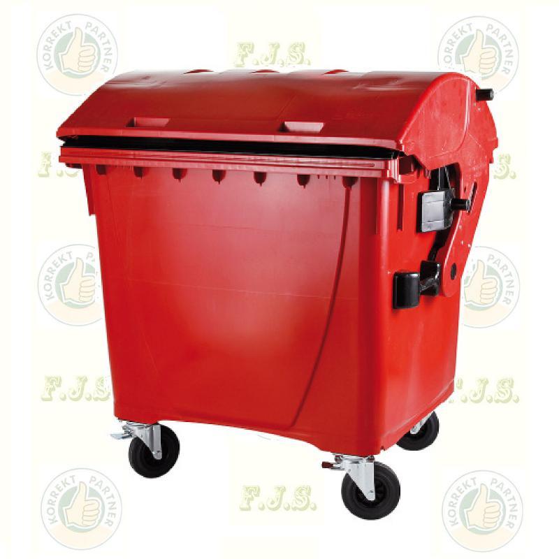 konténer 1100 literes piros műanyag